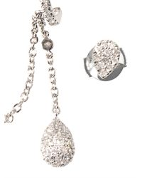 Elise Dray - Metallic Diamond & Gold Pleureuses Earrings - Lyst