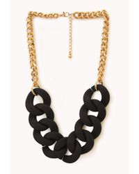 Forever 21 | Metallic Street Chic Oversized Chain Necklace | Lyst