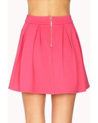 Forever 21 Pink Must-Have Pleated Skirt