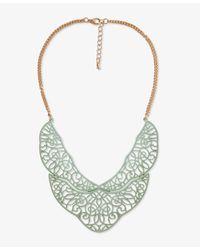 Forever 21 - Metallic Painted Filigree Bib Necklace - Lyst