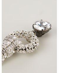 Giorgio Armani Metallic Embellished Clip On Earrings