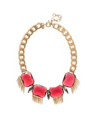 J.Crew | Red Moroccan Stone Necklace | Lyst