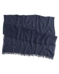 J.Crew - Blue Refined Silk-cashmere Wrap - Lyst