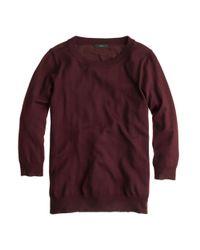 J.Crew - Red Merino Tippi Sweater - Lyst