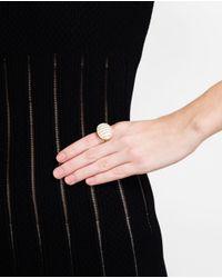 Kimberly Mcdonald Yellow Gold And Chalcedony Ring