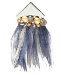 Lizzie Fortunato Blue Teenage Queen Earring