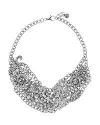 Lulu Frost | White Collage Silver Tone Crystal Necklace | Lyst