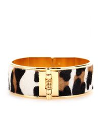 Marni - Black Pony Hair And Horn Bracelet - Lyst