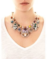 Shourouk - Multicolor Melancholia Embellished Bib Necklace - Lyst
