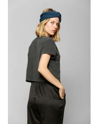 Urban Outfitters | Gray Truly Madly Deeply Embellished Hamsa Cropped Tee | Lyst