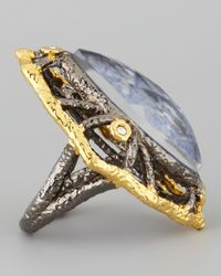 Alexis Bittar   Metallic Marquise Sodalite Ring   Lyst