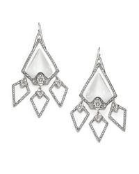 Alexis Bittar | Metallic Lucite Crystal Large Chandelier Earrings | Lyst