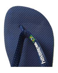 Havaianas Blue Rubber Flip Flops for men