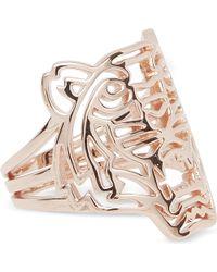 KENZO | Pink Rose Gold Tiger Ring | Lyst