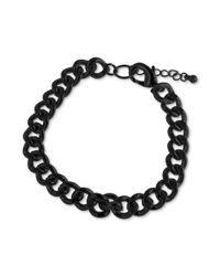 Marc Ecko | Blackplated Link Bracelet for Men | Lyst