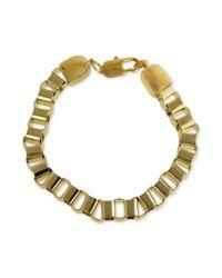 Marc Ecko | Metallic Goldtone Box Link Chain Bracelet | Lyst
