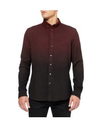 McQ - Red Dipdye Houndstooth Cotton Shirt for Men - Lyst