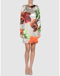 Miss Sixty - Purple Short Dress - Lyst