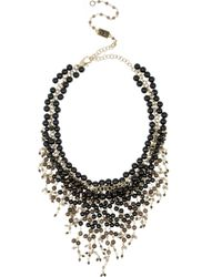 Rosantica | Black Zampillo Goldplated Onyx and Quartz Necklace | Lyst