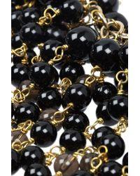 Rosantica - Black Zampillo Goldplated Onyx and Quartz Necklace - Lyst