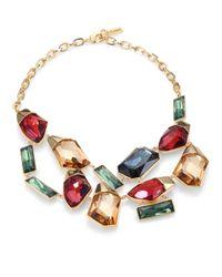 St. John | Metallic Swarovski Crystal Pendant Necklace | Lyst