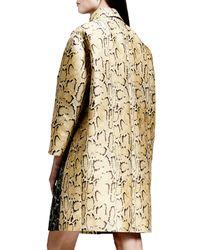Stella McCartney Metallic Two-Tone Python Jacquard Coat