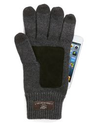 UGG | Gray Calvert Side Vent Glove With Leather Palm for Men | Lyst