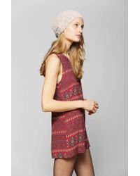 Urban Outfitters | Red Coincidence Chance Drapey Keyhole Romper | Lyst