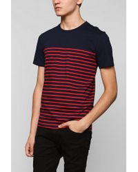 Urban Outfitters - Blue Bdg Engineered Thin Stripe Tee for Men - Lyst