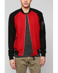 Urban Outfitters - Red Kc By Kill City Wool Bomber Jacket for Men - Lyst