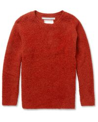 White Mountaineering Textured Wool Blend Sweater for men