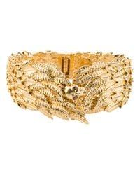 Alexander McQueen Metallic Embellished Wing Bracelet