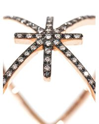 Diane Kordas - Pink Diamond Gold Starburst Ring - Lyst