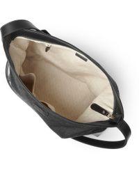 Gucci Black Leather Trimmed Canvas Messenger Bag for men
