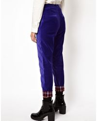 Herschel Supply Co. Blue Asos Africa Peg Pants with Check Trim