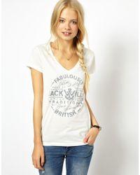 Jack Wills White Fabulously British T-Shirt