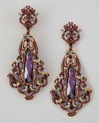 Jose & Maria Barrera - Purple Amy Cubic Pendant Earring - Lyst