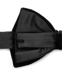 Lanvin - Black Bow Tie for Men - Lyst