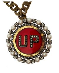 Lanvin - Red Gloria Up Brooch Necklace - Lyst
