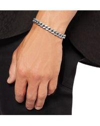 Saint Laurent | Metallic Burnishedsilver Chain Bracelet for Men | Lyst