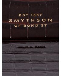 Smythson - Brown Embossed Leather Cufflink Case for Men - Lyst