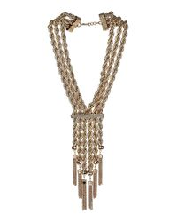 TOPSHOP - Multicolor Premium Gold Twisted Chain Necklace - Lyst