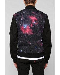 Urban Outfitters | Black Tripp Nyc Nebula Bomber Jacket for Men | Lyst