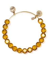 ALEX AND ANI - Luxe Dark Yellow Bangle - Lyst