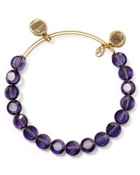ALEX AND ANI | Luxe Purple Bangle | Lyst