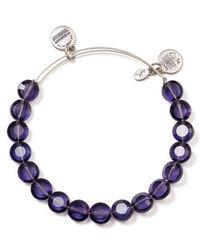 ALEX AND ANI Luxe Purple Bangle