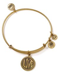 ALEX AND ANI | Metallic Open Love Bangle | Lyst