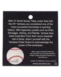 ALEX AND ANI - Metallic New York Yankees Cap Logo Bangle - Lyst