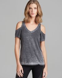 Chaser Gray Tee Cold Shoulder