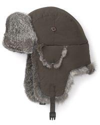 Crown Cap - Green Classic Fur Trim Aviator Hat for Men - Lyst